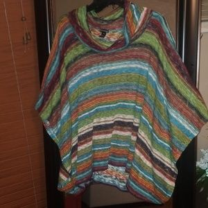 Cold weather poncho